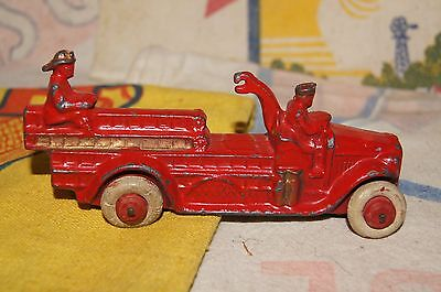 Original 1930s Slush Lead Fire Truck Drive Manoil Barclay Vintage Old Car Sign