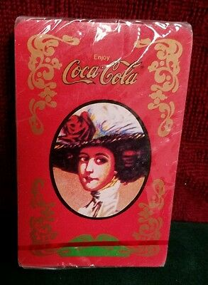Vintage style Coca Cola Playing Cards Red Victorian Lady. Factory shrink-wrapped