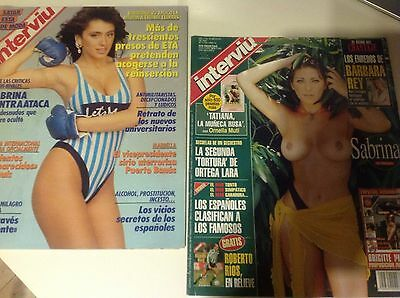 LOT 2 Magazines INTERVIU Sabrina Salerno