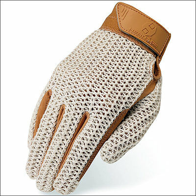 11 Size Heritage Crochet Riding Gloves Horse Equestrian Natural/tan