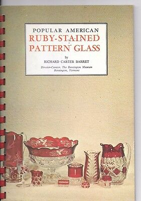 Popular American Ruby Stained Pattern Glass -by Richard Carter Barret