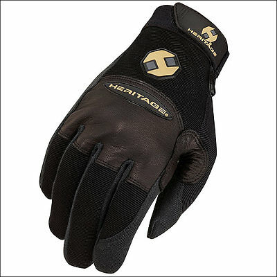 Size 10 Heritage Champion Roping Gloves Horse Equestrian Black Right Hand