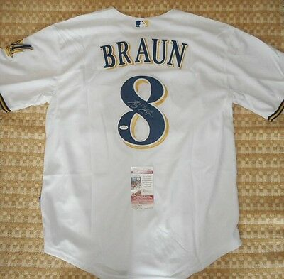 Ryan Braun Brewers Autographed Signed Adult Jersey MLB Baseball Authentic
