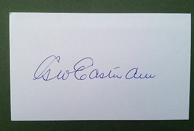 George Eastham Autograph Signed 5X3 England 1966 World Cup Card Stoke