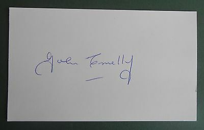 John Connelly Autograph Signed 5X3 England 1966 World Cup Card Man Utd Burnley