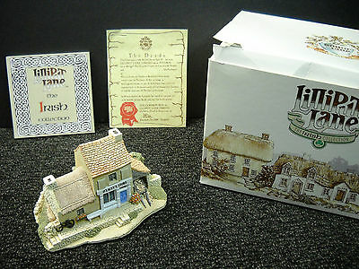 Lilliput Lane O'Lacey's Store From The Irish Collection New W/ Box & Deeds #466