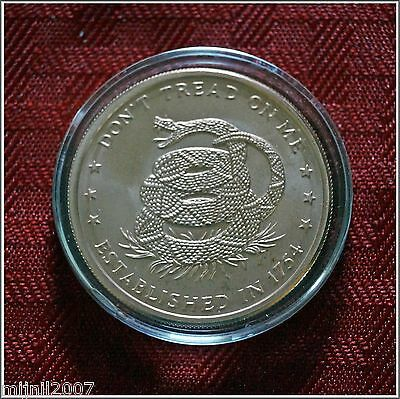 1 oz Pure Copper Coin Dont Tread On Me The Price Of Liberty in an Air-Tite