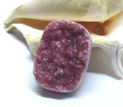 NATURAL PINK AFRICAN COBALTO COBALTIAN CALCITE DRUZY CRYSTAL CAB CABOCHON 30mm