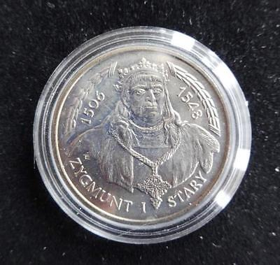 1994 Silver Proof Poland 200000 Zlotych Coin Zygmunt 1 Stary 1506-1548