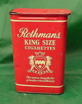 vintage red 20 Rothmans cigarette tin display collect