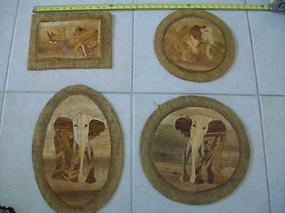 Hand Made African Wall Decor, Hand Cut Wood Wall Placques