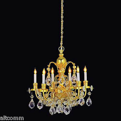 Dollhouse Miniature Chandelier 6-Arm 12V Stunning 1:12 Scale NEW