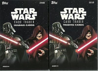 (2) 2016 Topps Star Wars Card Trader New Sealed Retail HANGER Pack LOT =32 Cards