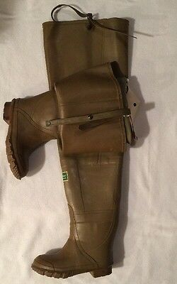 """SERVUS Northerner 34"""" Series IRRIGATION TALL RUBBER HIP BOOTS WADERS SIZE 7"""
