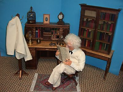 One of A Kind Mark Twain Artist Doll Display from Museum by Jack Johnston
