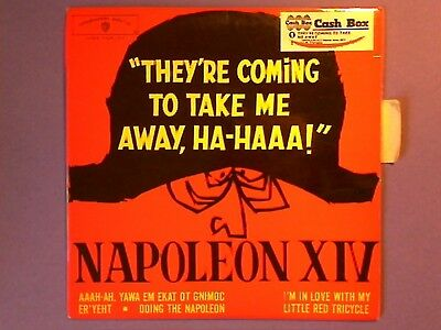 """Napoleon XIV - They're Coming To Take Me Away, Ha-Haaa! (7"""" EP) p/s French EP108"""