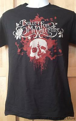 """BULLET FOR MY VALENTINE T-Shirt  """"White Rose""""  Official/Licensed   Size:S   NEW"""