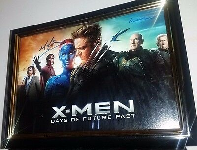 X-Men Hand Signed With Coa Jackman Stewart Lawrence Mcavoy Framed Autograhped Pi