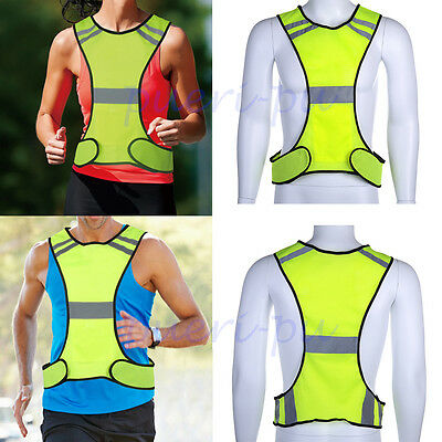 For Riding Running Reflective Safety Security Visibility Vest Gear Stripe Jacket