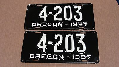 1927 Oregon Restored Pair License Plates # 4203