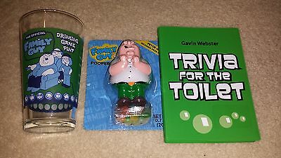 Family Guy Drinking Game Glass Peter Griffin Pooping Action Figure Toy & Trivia