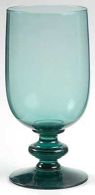 Imperial Glass Ohio PROVINCIAL BLOWN BLUE Iced Tea Glass 960598