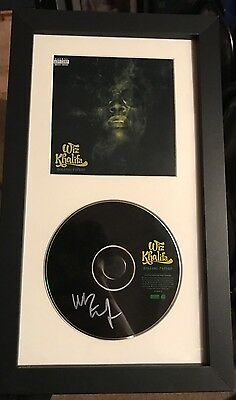 Wiz Khalifa Autographed Rolling Papers Cd Framed Exact Proof Pittsburgh Tgod 412