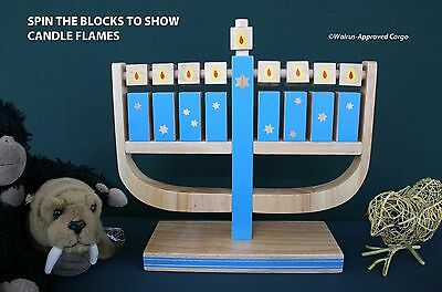 Pottery Barn Kids Wooden Play Menorah -Nib- Let The Little Ones Light The Way!