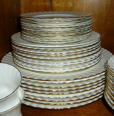 Royal Doulton Val D'or Fine China Dinner Service - 9 Piece Setting & extras