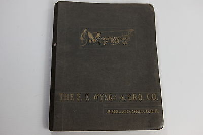 Vintage F.E. Myers & Bro. Co. Ashland Ohio Water Pump System Parts Catalog Book