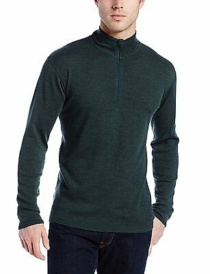 Minus33 Merino Wool Isolation Midweight 1/4 Zip Top (Forest Green) XX-Large