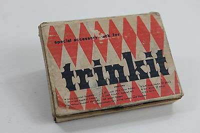 Vintage Trinkit Enamel Powder Colors Tubes & 7 Copper Pieces Jewelry Making Kit