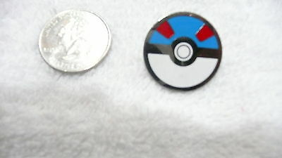 Pokemon PokeBall Great Ball Lapel Pin Free Shipping in USA