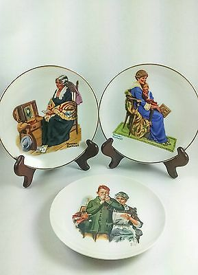 Three (3) Norman Rockwell Collectors Plates - Vintage
