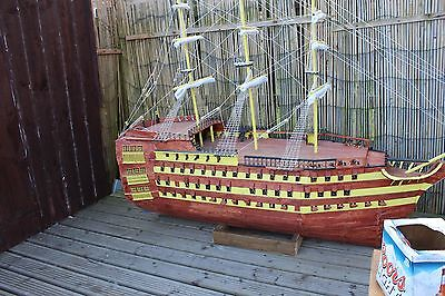 Hand Built Ship On Theme Of Hms Victory