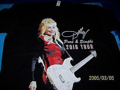 "Dolly Parton Pure & Simple Tour Xl T-Shirt ""new""!!!"