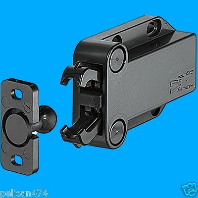 1x Non Magnetic Pressure Catch LATCH Pull hold 4 kg Finish Black push to open b