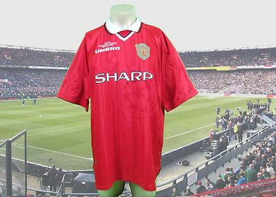 Manchester United Champions League 1999 winners home shirt camiseta size XXL