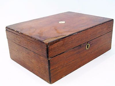 Small Antique Mother Of Pearl Box for Restoration Spares/Repair 26.5x19x10 CM