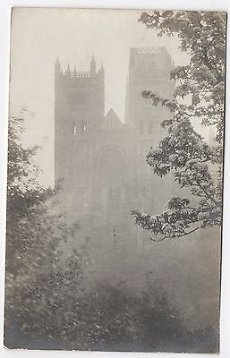 Real Photo Postcard Durham Cathedral Through The Trees Bushes - A Bailes
