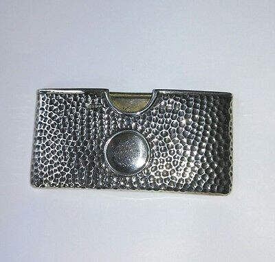 Silver open card case hallmarked London 1901.