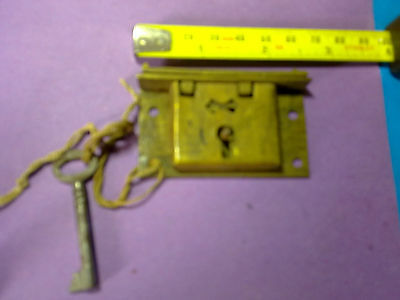 box lock, 64 mm, reclaimed ,antique or vintage (LL7)