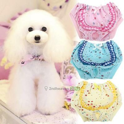 Cute Female Dog Puppy Physiological Pants Diaper Sanitary Underwear Nappy S/M/L
