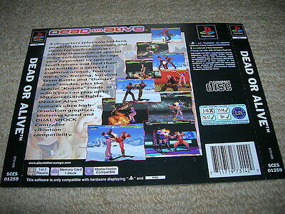 DEAD OR ALIVE  – PS1 PAL Rear Box Art Insert Only