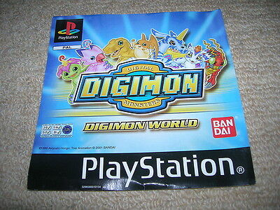 DIGIMON WORLD – PS1 PAL Front Box Art Insert Only
