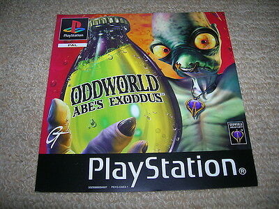 ODDWORLD : ABE`S EXODDUS – PS1 PAL Front Box Art Insert Only