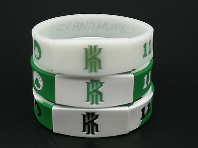 New Green Kyrie Irving Silicone Sports Wristband Bracelet Hand Ring