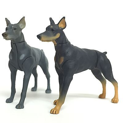 Choco Egg Mini Figure Dog Doberman Pinscher Black & Blue Merle 2pcs Set Furuta
