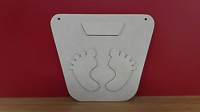 Mdf Weight loss plaque 3d 19.5cm x 17cm with loose attachments for easy painting