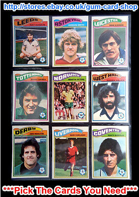 Topps 1978 Football Orange Back Cards 271 To 324 (Vg) *Please Choose Cards*